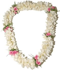 Happy Lei Day ~ This is another one of my favorites... white tuberose with pink mini roses ♥