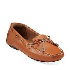 Dunbar Racer in Orange Leather - Womens Shoes from Clarks