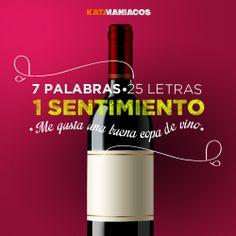 Nos gusta una buena copa de vino! No importa si es tinto, blanco, rosado, tranquilo o espumoso