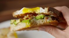 Egg in a Hole Breakfast Sandwich seriously ups the BEC game!