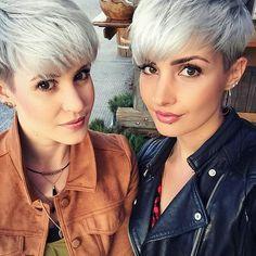 @jejojejo87  @prettyfacesxo ❤ Two beautiful pixie girls ❤
