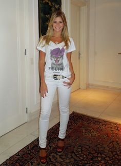 Look: Lala Rudge - All White Casual | Looks Inspiração