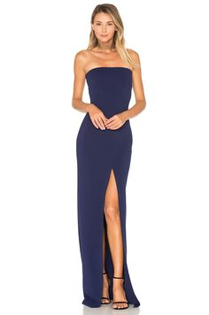 SOLACE London Aubrey Maxi Dress in Navy