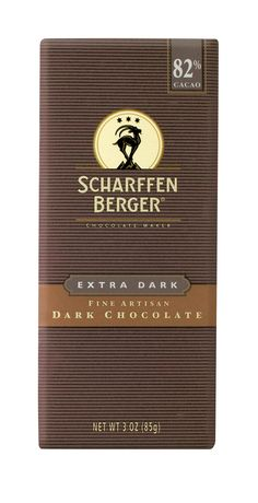 Like fine red wine, SCHARFFEN BERGER 82% Cacao Extra Dark Chocolate bar has rich notes of dried figs and a mild peppery spiciness.