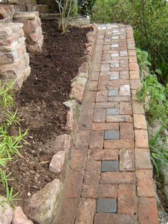 Garten Brick path Brick path Buying The Right Type Of Mens Watches Apart from telli Path Design, Landscape Design, Garden Design, Landscape Steps, Landscape Architecture, Garden Stones, Garden Paths, Brick Pathway, Brick Patios