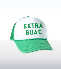 """Yes, I know guac is extra. And I would like extra guac. So I guess you'll just have to charge me extra extra. How d'ya like 'dem avocados? See what I did there? Normally the expression would be """"apples,"""" but I substituted """"avocados."""" Because we're talking about gua-- Never mind.And if you can't give me extra guac, then I guess I'll just have to """"guac"""" on outta here and take my """"guizness"""" elsewhere!"""