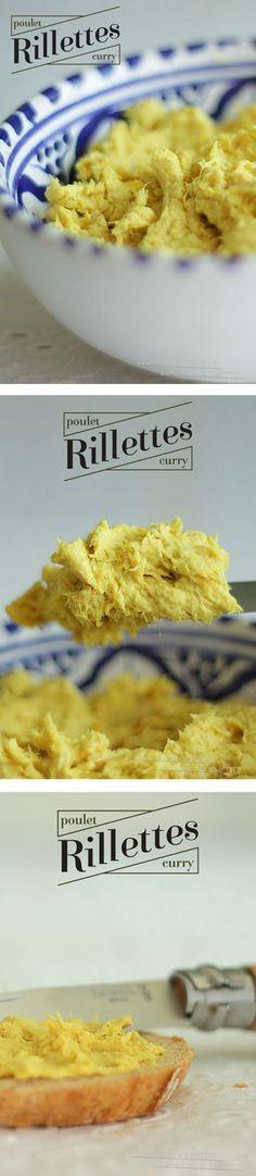 Petites rillettes de poulet curri-Kiri, une recette à tartiner sans modération…