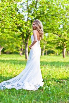 love the back and shape of this dress!  Photo by Danny Boyle Photography