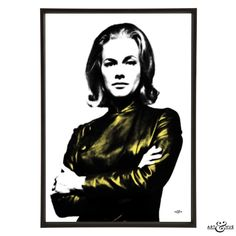 Cult TV show The Avengers unframed art print of Tara King on 310gsm fine art archival matte paper, 100% cotton, using pigment inks which last a lifetime.