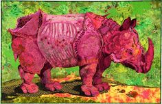 Susan Carlson quilt - one of my favorites of all time.... I adore Rhinos, and a PINK one? Stupendous!