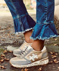 Sneakers in Glitter con Fondo Scritta Trainers