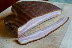 Home cured bacon without nitrates or nitrites