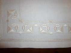 This Pin was discovered by tuğ Types Of Embroidery, Learn Embroidery, White Embroidery, Ribbon Embroidery, Hardanger Embroidery, Embroidery Stitches, Embroidery Patterns, Drawn Thread, Satin Stitch