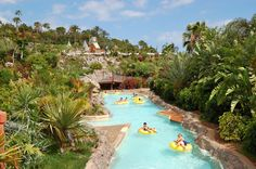 The park in Tenerife covers of natural landscapes and includes a fun water park for the whole family. Vacation Destinations, Vacation Spots, Vacation Ideas, World Water, Park Around, Floating In Water, Travel Channel, Pool Landscaping, Trip Advisor