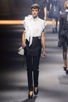 A look from the Lanvin spring 2016 collection. Photo: Imaxtree.