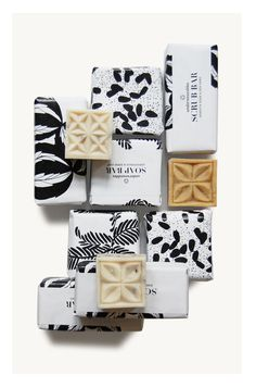 /UNDERWEARABLES SOAP BARS- black  white in coordinating prints