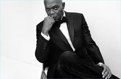 Actor Samuel L. Jackson dons a sharp tuxedo for Brioni's spring-summer 2017 campaign.