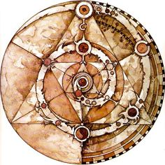 Combination of Skekses triangles and Mystics' spirals, uniting technology and nature.<<If you mean the Deathly Hallows yes.