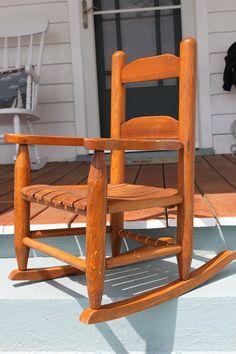 child s primitive wood high chair primitive gatherings
