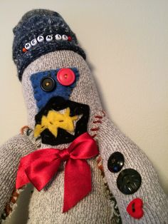 """""""Meanie"""" Sock Monkey Creature by Maggie Muth"""