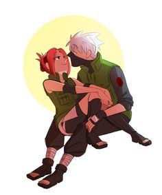 """"""" """"Sakura, are you trying to seduce me?"""" Kakashi asked. """"Perhaps,"""" she mused. """"Is it working?"""" """"Perhaps,"""" he said with a smile. """" I was possessed by the kakasaku spirit and drew this sooo Dedicated to my wonderful amazing Frostings, who gives me..."""