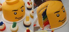 Cake in the shape of a LEGO Mini-figure head.  I plan to use this for our year end FIRST LEGO league party