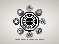 SD8321 DHARMA Initiative Logo Lost TV Series 24x18 Print POSTER