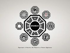SD8321 DHARMA Initiative Logo Lost TV Series 24x18 Print POSTER