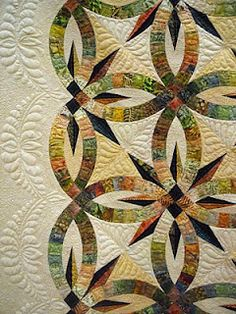 """A Hint of Fall"" by Pam Gantz, quilted by Susan Corbett (from Monica/Diary of a Quilting Maven...in Training)"