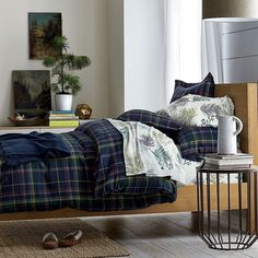 Our Newbury Flannel bedding as part of Apartment Therapy's 7 Tips for Building a Colorful Winter Bed