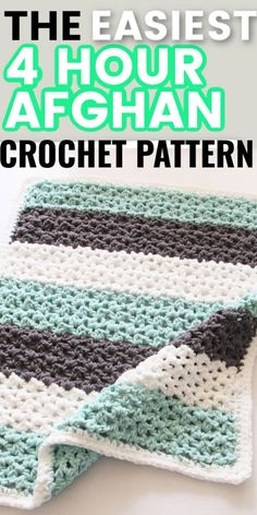Quick Crochet Blanket, Chunky Yarn Blanket, Crochet For Beginners Blanket, Baby Blankets To Crochet, Crochet Throws, Crochet Afgan Patterns Free, Crochet Baby Blanket Free Pattern, Free Crochet, Crochet Stitches
