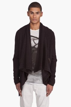 Yigal Azrouel French Terry Cardigan for men - StyleSays