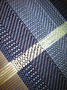sampling for new weaving...Katherine Key, weaver