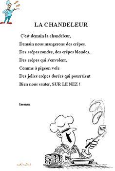 Imprimer le texte de la poésie de la chandeleur - Chanson Enfant - Tête à modeler