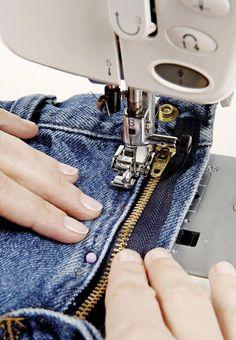 How to replace a broken jeans zipper | Threads