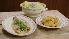 Tongschar met peterseliesaus, aardappelen en kropsla | Dagelijkse kost