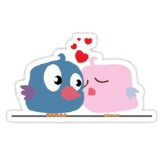 flying kiss sticker: flying kiss sticker