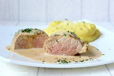 Schweinefilet Sous Vide mit Pfefferrahmsoße und Kartoffel - Püree