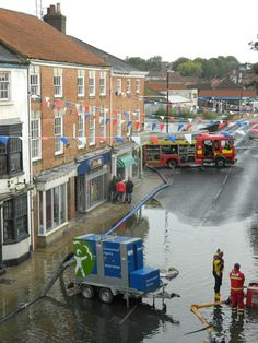 Bridge street was hit by the latest flooding which affected several businesses. Flood water seeped from the drains and into the road which closed the bridge amid fears of structural damage