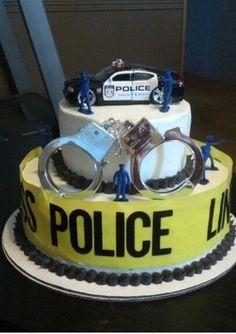 Police line cake.