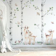 Playroom Mural, Bedroom Murals, Kids Room Wall Art, Kids Bedroom, Kids Art Galleries, Fairytale Bedroom, Woodland Nursery Decor, Animal Nursery, Baby Room Decor