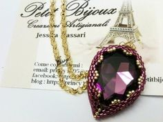 DIY Tutorial: incastonare una  goccia - Beaded bezel tutorial: How to bezel a Teardrop Cabochon