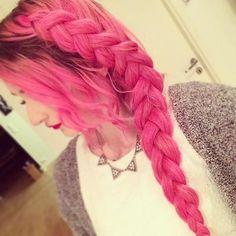 #pink side #braid from tonjen Instagram