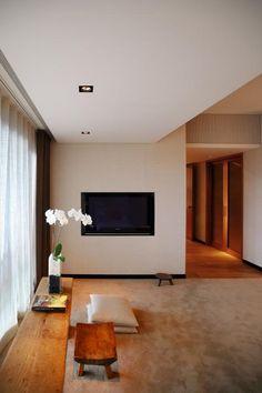 勤美璞真-關傳雍-臥室 House Design, Living Room, Space, Interior, Tile, Ceiling, Home Decor, Floor Space, Mosaics