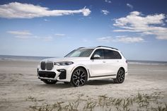 The M Sport package showcases the dynamic potential of the new with extra-large air intakes, light-alloy wheels in M twin-spoke design and a disti. Bmw X Series, Bmw X7, Off Road, New Bmw, Led Headlights, Bmw Cars, Alloy Wheel, Exterior Design, Background Images