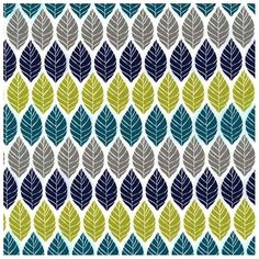Tissu Leaf press teal x 10cm