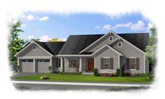 Elevation of Ranch   House Plan 92616
