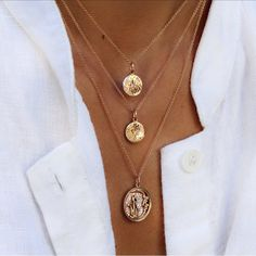 """""""Golden ✨✨ our gold disks are the perfect layering pieces #lunaskyejewelry"""""""