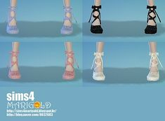 Sims 4 Updates: Marigold - Shoes, Shoes for females : Ribbon ballet shoes, Custom Content Download!