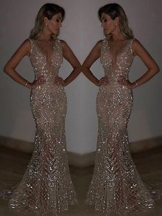 Blingbling Sequined Mermaid Evening Dress - 2020 New Prom Dresses Fashion - Fashion Of The Year Backless Prom Dresses, Grad Dresses, Ball Dresses, Homecoming Dresses, Ball Gowns, Sparkly Prom Dresses, Wedding Dresses, Split Prom Dresses, Long Fitted Prom Dresses